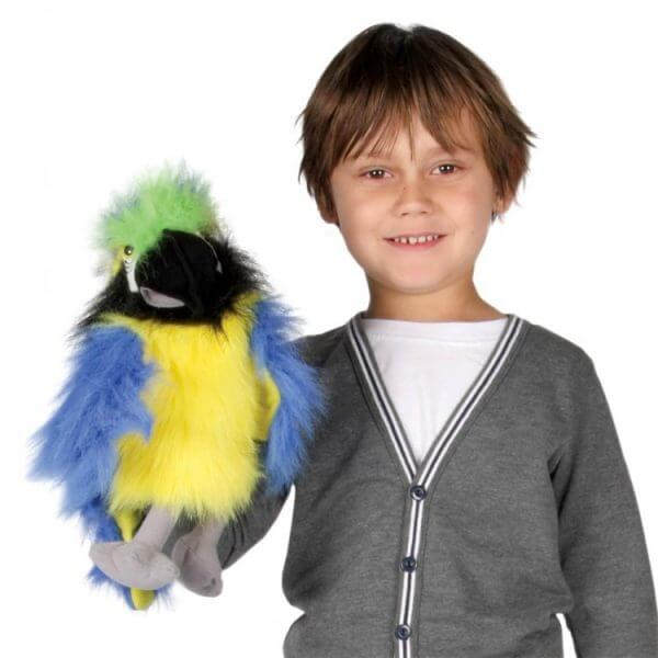 Baby Bird Blue & Gold Macaw Puppet Company