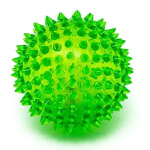 Bright light up flashing sensory textured ball
