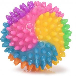 textured flashing light up bobble ball