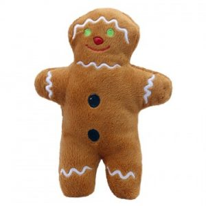 Finger puppet walking gingerbread man