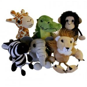 Set of jungle animal finger puppets