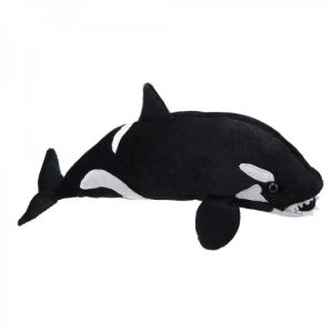 Orca whale large finger puppet