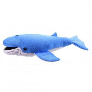 Finger puppet large blue whale