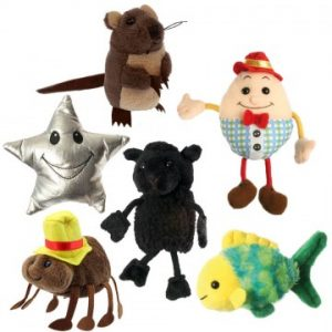 Set of Nursery Rhyme Finger Puppets