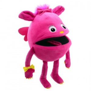 Pink baby monster puppet
