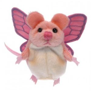 Finger puppet with wings mouse pink