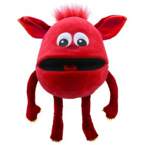 Red baby monster puppet hand puppet company