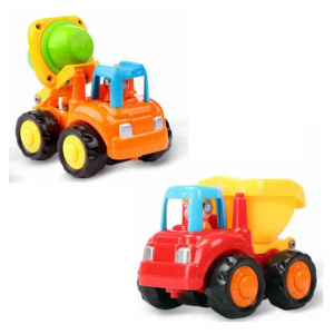 Set of 2 Vehicles cement mixer and tipper truck photo