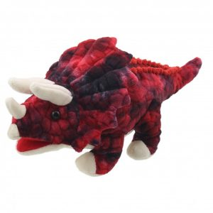 Triceratops Hand Puppet Company dinosaur red baby dino