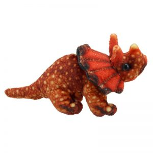 Triceratops Orange finger puppet company
