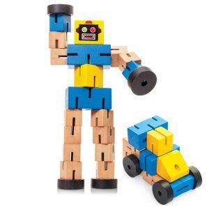 Wooden Transformbot Robot Transformer
