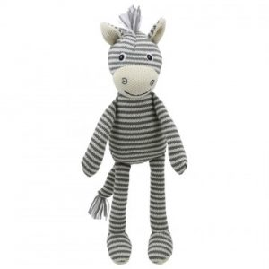 Zebra Knitted soft toy